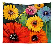 Colorful Poppy Warm No.1 Tapestry