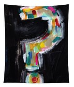 Colorful Questions- Abstract Painting Tapestry