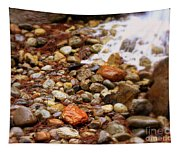 Colorful Rocks With Waterfall Tapestry