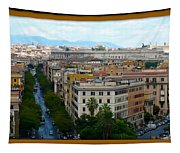 Colorful Rome Cityscape Tapestry
