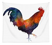 Colorful Rooster Tapestry