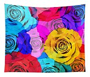 Colorful Roses Design Tapestry