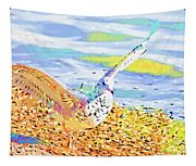 Colorful Seagull Tapestry