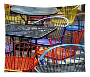Colorful Seating Tapestry