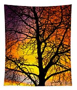 Colorful Silhouette Tapestry