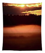 Colorful Skies Nearing Sunset Tapestry