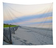 Colorful Skies On The Beach In Stone Harbor Tapestry