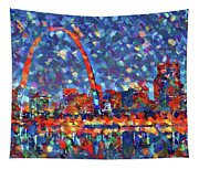 Colorful St Louis Skyline Tapestry