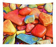 Colorful Stones Tapestry