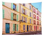 Colorful Street In Paris Tapestry