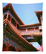 Colorful Temple Walkway Tapestry