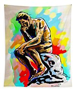 Colorful Thinker Tapestry
