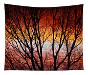 Colorful Tree Branches Tapestry