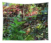 Colorful Tropical Plants Tapestry