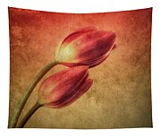 Colorful Tulips Textured Tapestry
