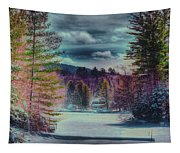 Colorful Winter Wonderland Tapestry