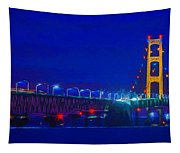 Colors Of Mackinac At Dusk Tapestry