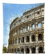 Colosseum Or Coliseum Pencil Tapestry