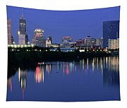 Colts Blue Hour Night Tapestry