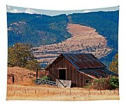 Columbia River Barn Tapestry