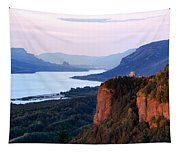 Columbia River Vista House Tapestry