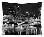 Columbus Black Night Tapestry