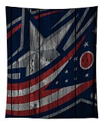 Columbus Blue Jackets Wood Fence Tapestry