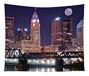 Columbus By Moonlight Tapestry