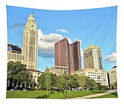 Columbus From The Park Tapestry