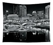 Columbus Ohio Black And White Tapestry