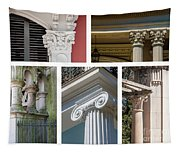 Columns Of New Orleans Collage Tapestry