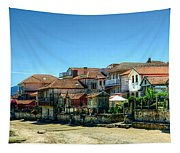 Combarro Village Waterfront Panorama Tapestry