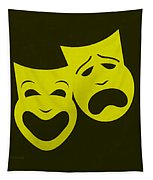 Comedy N Tragedy Yellow Tapestry
