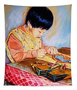 Commission Portraits Your Child Tapestry