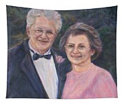 Commissioned Portrait Painting Tapestry