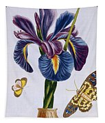 Common Iris With Butterflies Tapestry