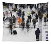 Commuter Art Abstract Tapestry