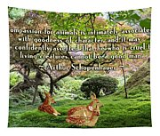 Compassion And Goodness Tapestry