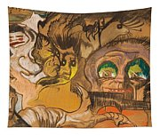 Composition Green Eye Tapestry
