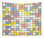 Composition With Grid Ix Tapestry