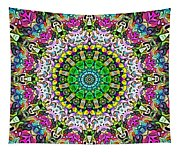 Concentric Colors Abstract Tapestry