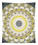 Concrete And Yellow Mandala- Abstract Art By Linda Woods Tapestry by Linda Woods