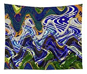 Condos On The Beach Abstract Tapestry