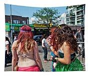 Coney Island Girls Tapestry