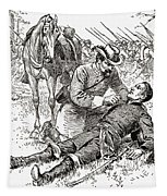 Confederate General John Brown Gordon Assists Wounded Union General Francis Channing Barlow Tapestry