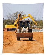 Construction Digger Tapestry