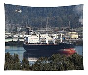 Container Ship Ready To Load More Lumber Tapestry