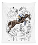 Contemplating Flight - Horse Jumper Print Color Tinted Tapestry