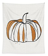 Contemporary Pumpkin- Art By Linda Woods Tapestry by Linda Woods