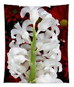 Contrasting Red And White Flowers Tapestry